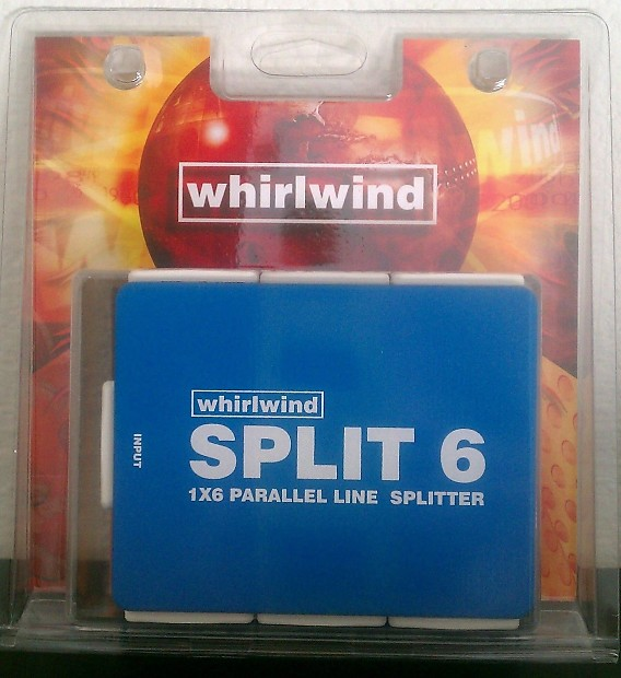 Whirlwind Split 6 Line Level Parallel Mic Splitter Xlr
