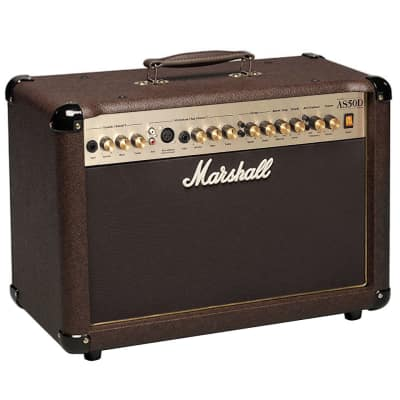 "Marshall AS50D 2-Channel 50-Watt 2x8"" Acoustic Guitar Combo Amp"