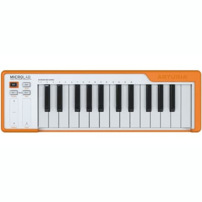 ARTURIA MICROLAB Orange Smart Portable 25-Key Controller W/Software Instrument Bndl