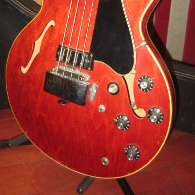 Vintage 1969 Gibson EB-2 DC Cherry Red w/ Original Case for sale