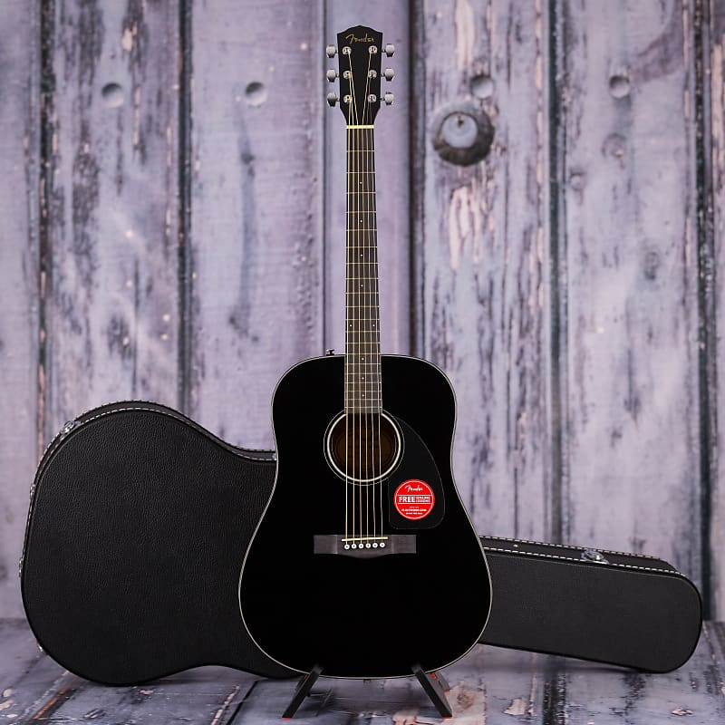 fender cd 60 dreadnought v3 black replay guitar exchange reverb. Black Bedroom Furniture Sets. Home Design Ideas