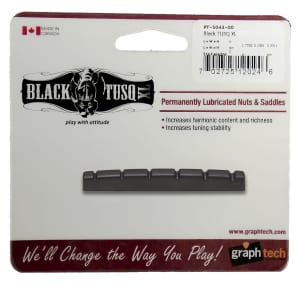 "Graph Tech PT-5043-00 BLACK TUSQ XL 1-3/8"" E-to-E Slotted Strat-Style Guitar Nut"
