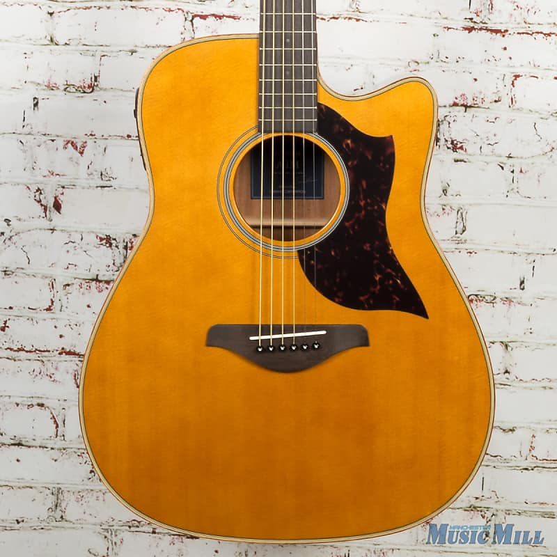 Yamaha A1m Dreadnought Cutaway Acoustic Electric Guitar Vintage Natural Gloss Acoustic Electric Guitars