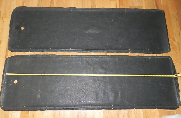 2 x Pieces Vintage Marshall Plexi Levant Tolex 1969 - Black (Dark Green)