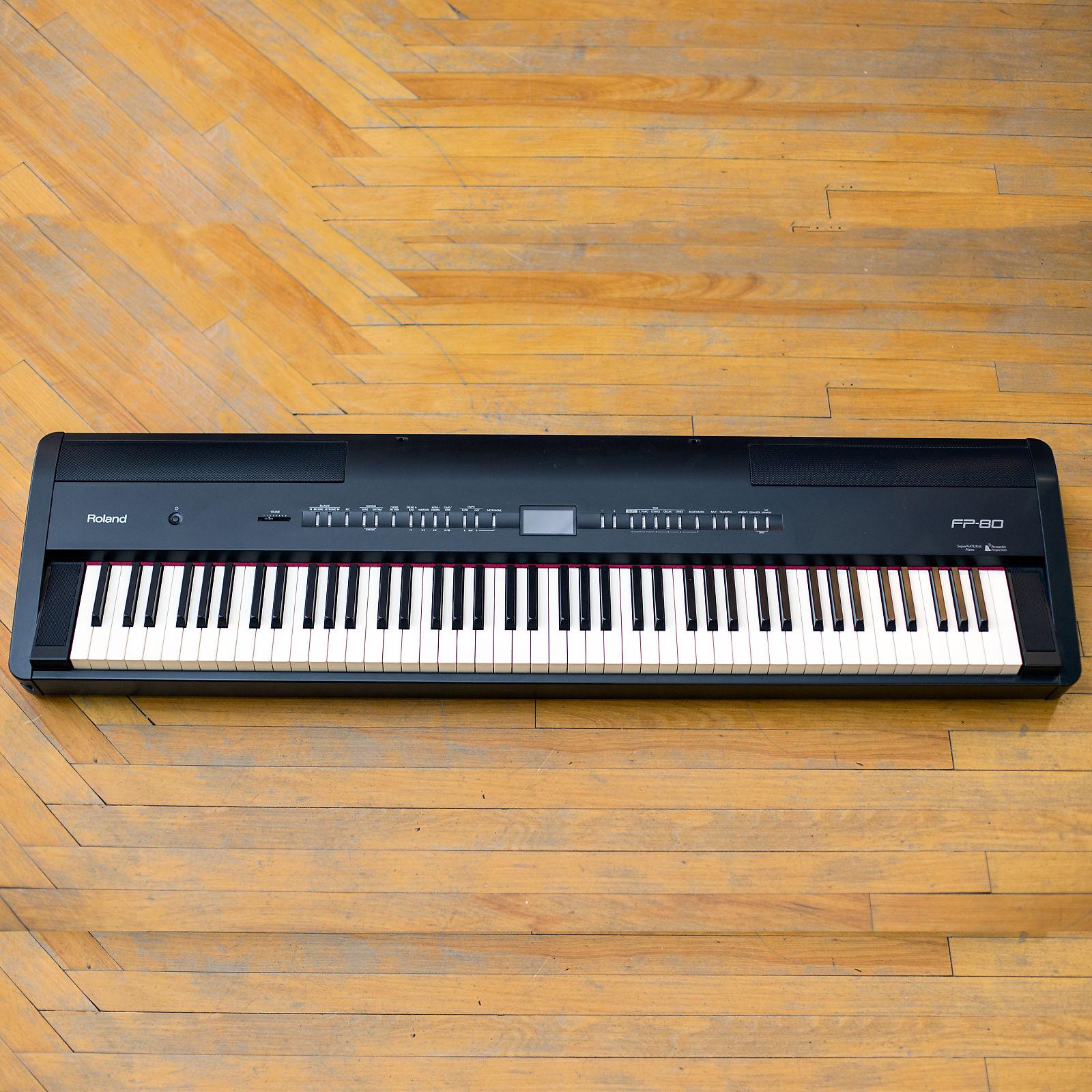 roland fp 80 bk 88 key digital piano reverb. Black Bedroom Furniture Sets. Home Design Ideas
