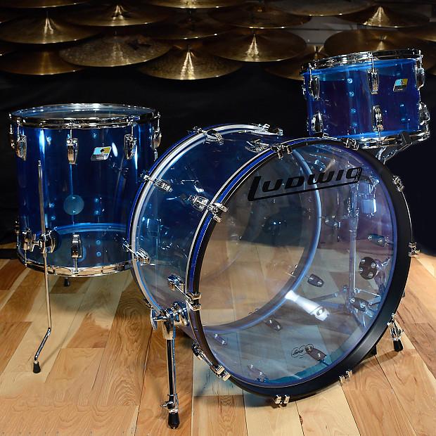 Ludwig Vistalite 13 16 24 3pc Drum Kit Blue Acrylic Reverb