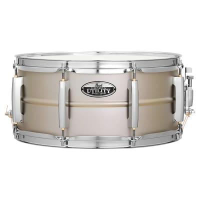 """Pearl MUS1465S/C Modern Utility 14x6.5"""" Beaded Steel Snare Drum"""