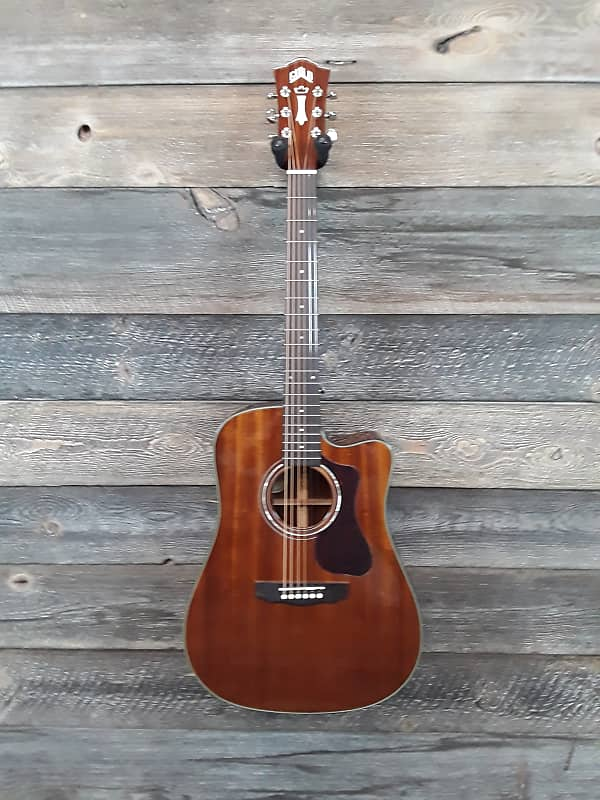 Guild D-120 Natural Mahogany with Polyfoam case #3 image