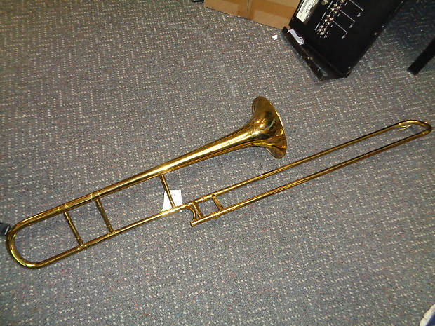 vintage H N  White The King trombone with hardshell case Serviced