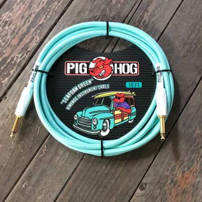 "PIG HOG  ""SEAFOAM GREEN"" Instrument Cable 10ft"