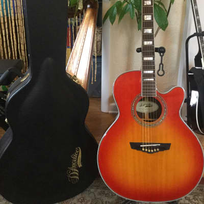 D'Angelico Excel Gramercy Acoustic-Electric Guitar, Rare Cherry  Sunburst 2017, Made in Indonesia for sale