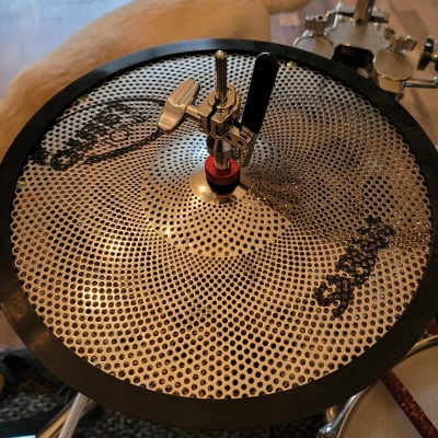 """Sabian 14"""" Quiet Tone Low Volume Hi-Hat Cymbals Converted Into A 360 Degree 3 Zone Electric Hi Hat (Pair)"""