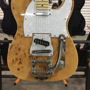 Giannini GTL-205-FM Bigsby Style Tele Electric Guitar w/ Natural Burled Top for sale