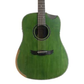 DreamMaker Acoustic Electric Guitar KU280E Green for sale