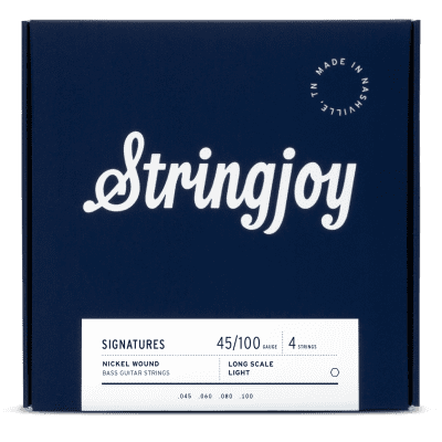 Stringjoy Light Gauge (45-100) 4 String Nickel Wound Bass Guitar Strings