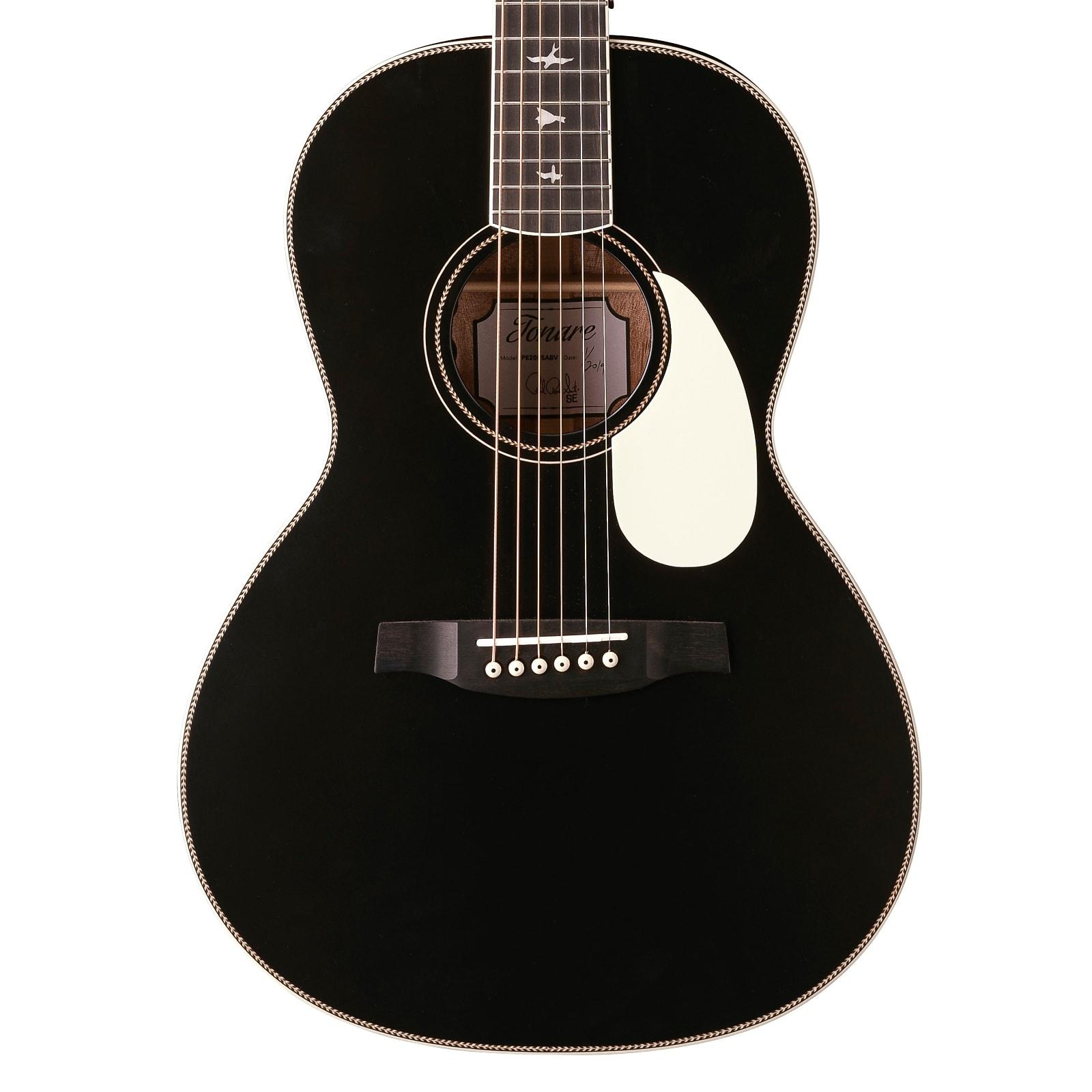 Paul Reed Smith PRS SE P20E Tonare Parlor Acoustic Electric Guitar Satin Black