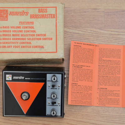 Maestro BB-1 Bass Brassmaster Vintage Fuzz w/ Box & Manual early 1970s Black / Orange for sale