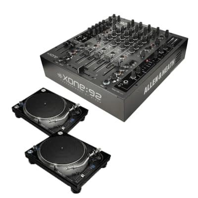 Allen & Heath XONE:92S Professional Six-Channel Club Install DJ Mixer + (2) Pioneer DJ PLX-1000 Professional Turntable