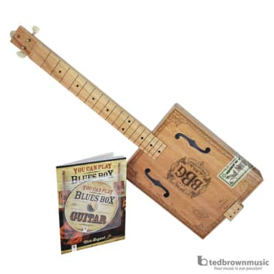 Hinkler  Electric Blues Box Slide Guitar Kit - Includes Cigar Box Guitar, Blues Slide, Book, and CD for sale