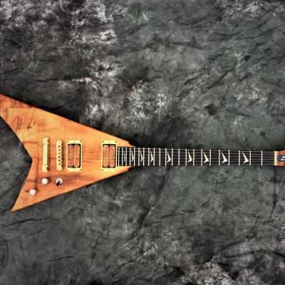 🔥On-SALE!  RRV Randy Rhoads Custom FlyingV Tribute Guitar Blk Diamond Lacquer Checki for sale