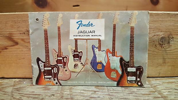 Fender Jaguar Instruction Manual Hang Tag 1963 1965 Reverb