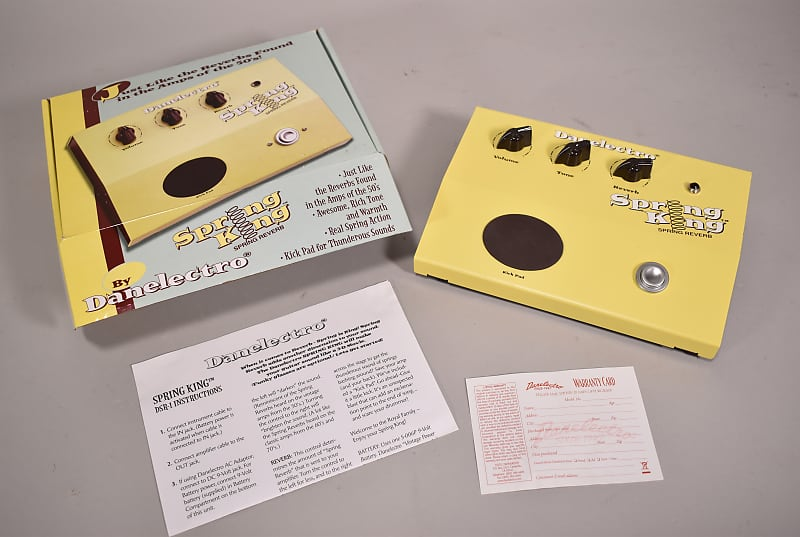 Danelectro Spring King Reverb Electric Guitar Effects
