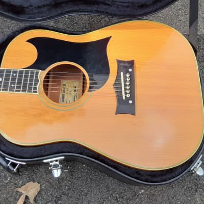 Vintage Circa 1971 Grammer S-30 Acoustic Guitar w/ Case! Super Rare Wide Nut Width! for sale