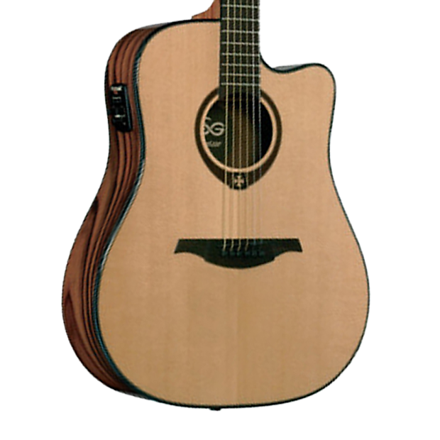 lag tramontane t500dce acoustic electric guitar with preamp reverb. Black Bedroom Furniture Sets. Home Design Ideas