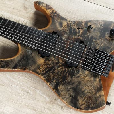 Mayones Hydra Elite 7 - 7-String Guitar, Trans Graphite Satin