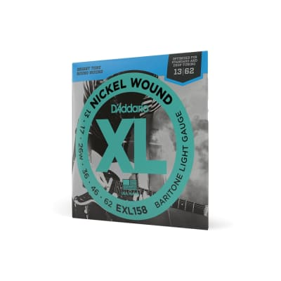 D'Addario EXL158 Nickel Wound Light Electric Baritone Guitar Strings