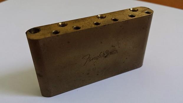 Fender Brass Tremolo Block - RARE | The Guitaberdashery