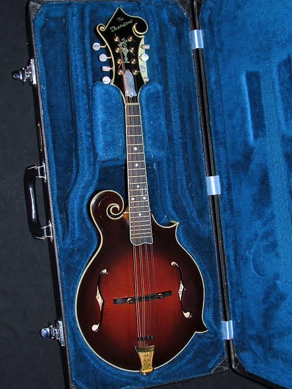 2002 Dearstone F5 Master Model Mandolin Redwood Top Reverb