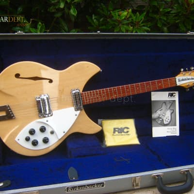 ♚UNDER THE BED♚Vintage 1992 RICKENBACKER 330-6 ROSE MORRIS*1997 USA♚MapleGlo♚360 for sale