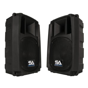 "Seismic Audio L_Wave-8-PAIR Active 1x8"" 2-Way Powered 150w Speakers (Pair)"
