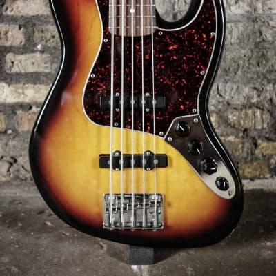 Fender Deluxe Active Jazz Bass V - 3 Color Sunburst - 1998  - Including case for sale