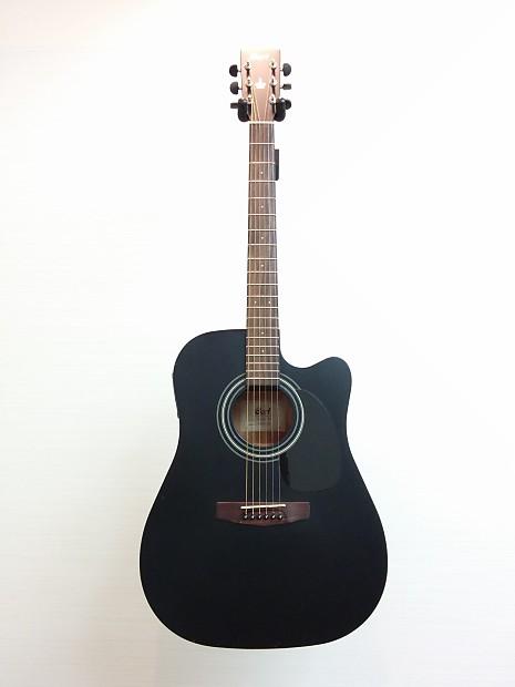 cort mr100f acoustic electric guitar matte black exc reverb. Black Bedroom Furniture Sets. Home Design Ideas