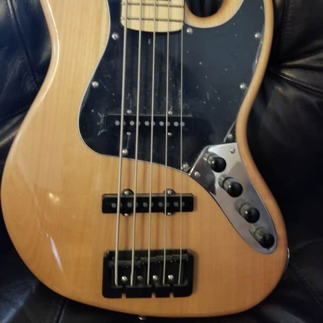 Fender Squier Vintage Modified Jazz V Maple FB Eletric Bass Natural image