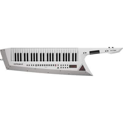 Roland AX-Edge 49-Key Keytar Synthesizer USB MIDI Bluetooth Controller White