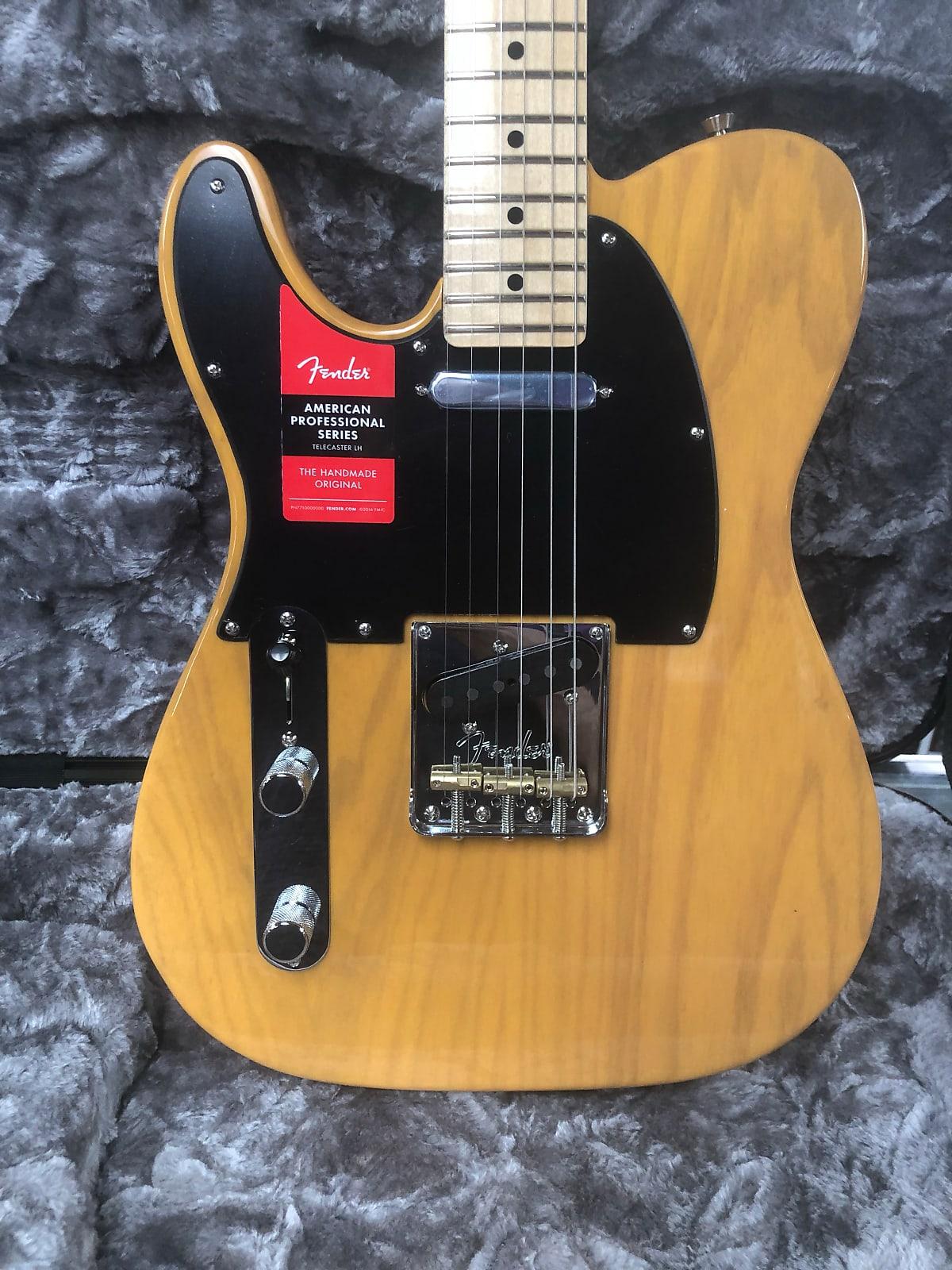Fender American Pro Telecaster Left-Hand, Maple Fingerboard, Butterscotch Blonde
