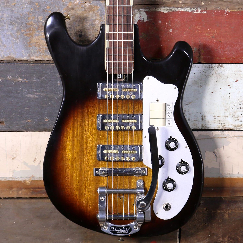 1960's Teisco WG-3L Electric Guitar Sunburst