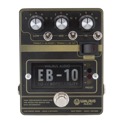 Walrus Audio EB-10 Preamp / EQ / Boost (Matte Black) for sale