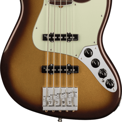 Fender American Ultra Jazz Bass V 5-String Electric Bass, Rosewood Fingerboard - Mocha Burst for sale