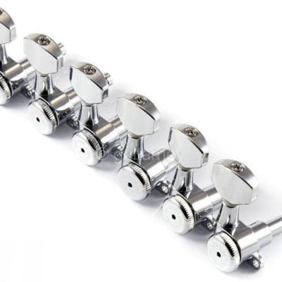 Hipshot® Nickel 6 Inline Staggered Enclosed Grip-lock Tuners~W/UMP Kit~Brand New