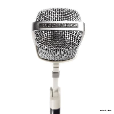 Sennheiser MD421-N 70s Vintage Dynamic Microphone. Clip, Holder, Case, Adapter Cable. MD 421