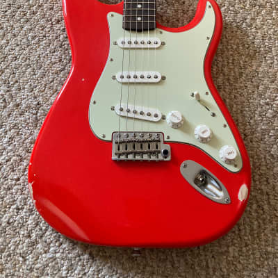 FLASH SALE!! Brown Bear Guitars Stratocaster Fiesta Red light Relic for sale