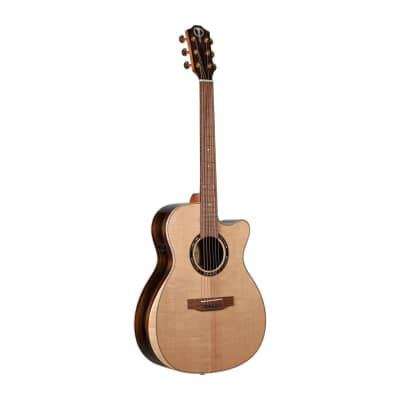 Teton STG180CENT Spruce/Ebony Grand Concert with Electronics Natural