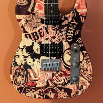 Fender Squier Obey Telecaster 2006 Obey Collage W/Fender Soft Shell Case