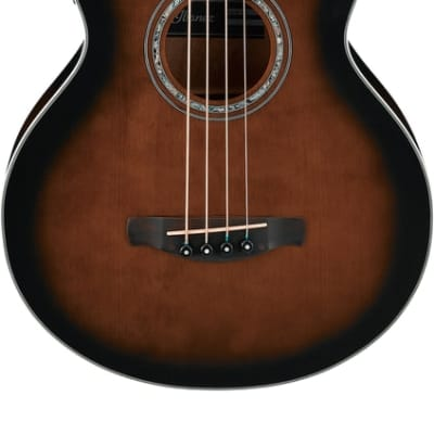 Ibanez AEB10EDVS 4-String Acoustic Bass Guitar, Dark Violin Sunburst High Gloss for sale