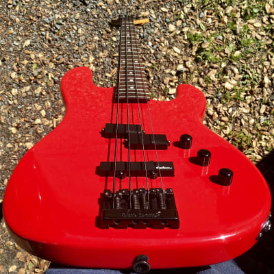 1986 Charvel 2B Electric Bass in Red - Made in Japan for sale