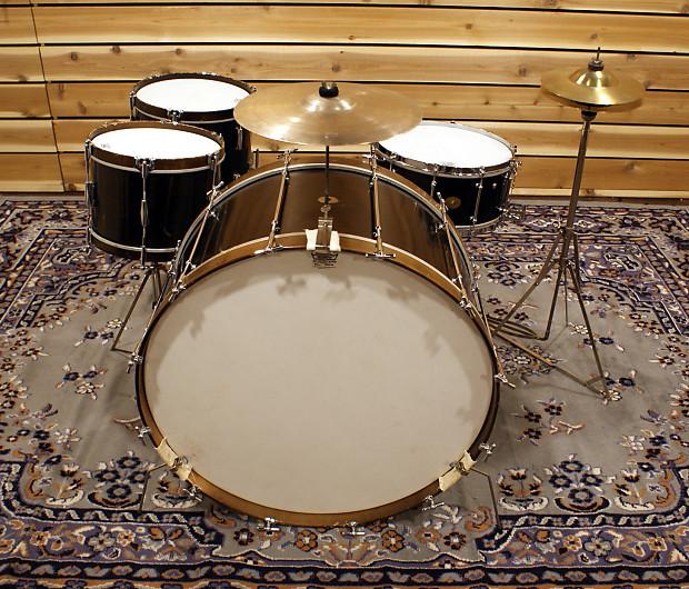 vintage 1920 39 s ludwig ludwig full 4 piece drum set reverb. Black Bedroom Furniture Sets. Home Design Ideas